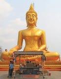 Золотой большой Будда в Паттайя Стоковые Изображения