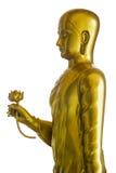 Золотой Будда вручая лотос Стоковые Изображения