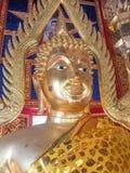 Золотой Будда в виске Таиланда Стоковое фото RF