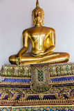 Золотой Будда в виске Wat Pho Стоковая Фотография RF