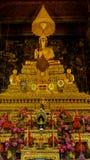 Золотой Будда в зале, виске Wat Phra Chetupon Vimolmangklararm Wat Pho, Таиланде Стоковое Изображение