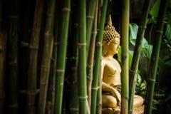 Золотой Будда в саде Стоковая Фотография RF