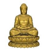 Золотой Будда - 3D представляют Стоковые Изображения