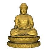 Золотой Будда - 3D представляют Стоковые Фото