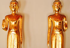 2 золотой Будда, pho wat, Таиланд Стоковое фото RF