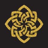 Золотой блестящий восьмиугольный символ Стоковое фото RF