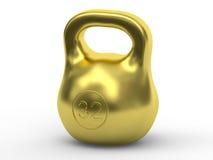 Золотой вес представленный с мягкими тенями Стоковая Фотография