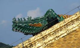 Золотой висок Chengde Putuo Zongcheng крыши Стоковая Фотография
