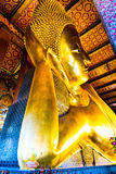 Золотой возлежа Будда виска Wat Pho, Бангкока Таиланда Стоковые Изображения
