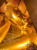 Золотой возлежа Будда в Wat Pho Стоковое Изображение RF