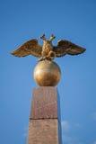 Золотой двойной орел, русский герб Стоковое фото RF