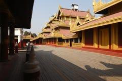 золотой дворец Мандалая Стоковые Изображения