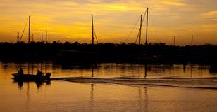 Золотой восход солнца Стоковое Изображение RF