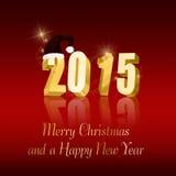 Золотой год 2015 Стоковое фото RF