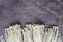 Золотой гриб иглы (Enokitake) Стоковое Изображение RF