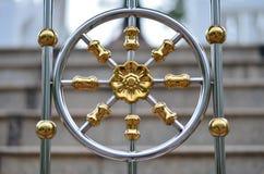 Золотой железный цветок Стоковое Изображение RF