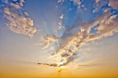 Золотой заход солнца Стоковое фото RF