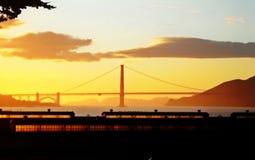 Золотой заход солнца Стоковое Фото