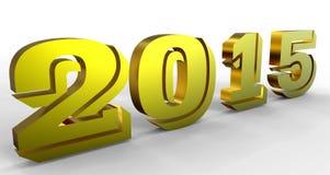 Золотой знак 2015 год Стоковое Изображение RF
