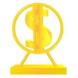 Золотой знак доллара Стоковое Изображение