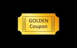 Золотой значок билета на черной предпосылке также вектор иллюстрации притяжки corel бесплатная иллюстрация