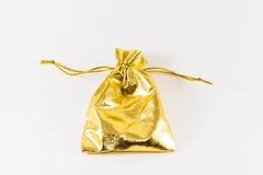 Золотой изображение изолированное сумкой Стоковая Фотография