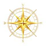 Золотой лимб картушки компаса Стоковая Фотография
