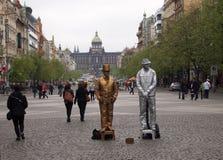 Золотой и серебряный человек Стоковое Изображение RF