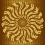 Золотой конспект вектора развевает предпосылка иллюстрация штока