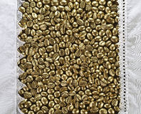 Золотой кофе стоковое фото