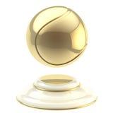 Золотой кубок чемпиона теннисного мяча Стоковое Изображение