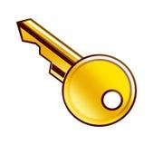 Золотой ключ Иллюстрация штока