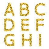Золотой металлический алфавит sequins r Стоковое фото RF
