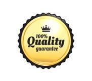 Золотой наградной качественный значок Стоковое Изображение RF