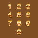 Золотой номер Стоковая Фотография RF