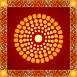 Золотой орнамент американских индейцев, ацтека и Майя Стоковое Изображение RF