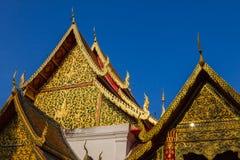 Золотой павильон тайский, тайские искусства. Стоковое Изображение