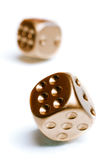 Золотой покер dices Стоковая Фотография