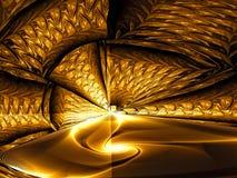 Золотой портал - изображение конспекта цифров произведенное Стоковая Фотография RF