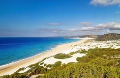 Золотой пляж, полуостров Karpas, северный Кипр Стоковая Фотография