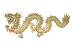 Золотой дракон. Стоковые Изображения