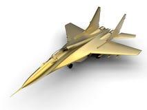 Золотой реактивный истребитель Стоковая Фотография RF