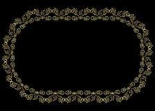 Золотой самоцвет рамки Стоковые Фото