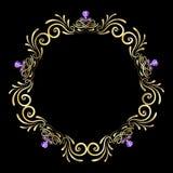 Золотой самоцвет рамки Стоковое Фото