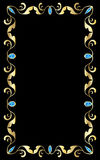 Золотой самоцвет рамки Стоковая Фотография RF