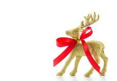 золотой северный олень для рождества Стоковая Фотография RF