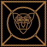 Золотой соткать богатый орнамент в кельтском или арабском стиле с a Стоковые Фотографии RF