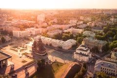 Золотой строб в Владимире, России Стоковое Изображение