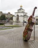 Золотой строб в vladimir, Российской Федерации Стоковое Фото