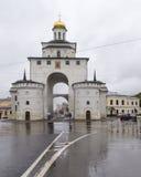 Золотой строб в vladimir, Российской Федерации Стоковое Изображение
